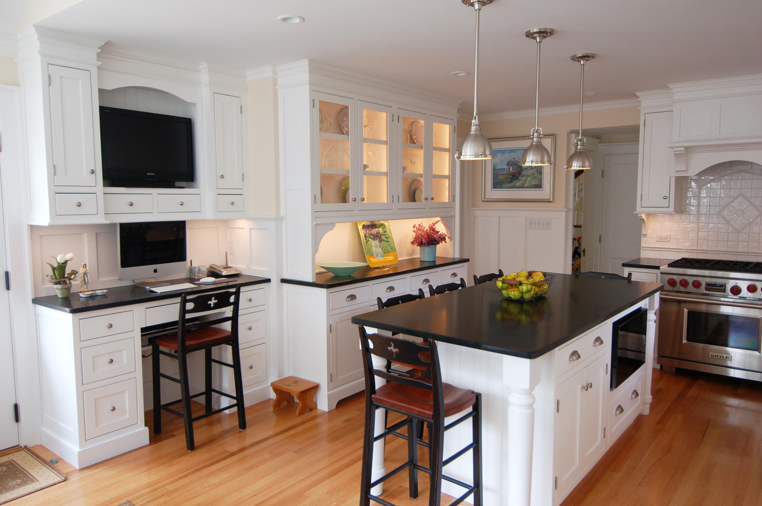 Kitchen white cabinets black granite photo 8