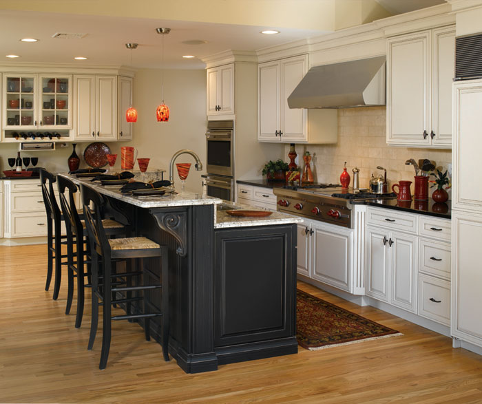 Create Customize Your Kitchen Cabinets Easthaven: Kitchen White Cabinets Black Island