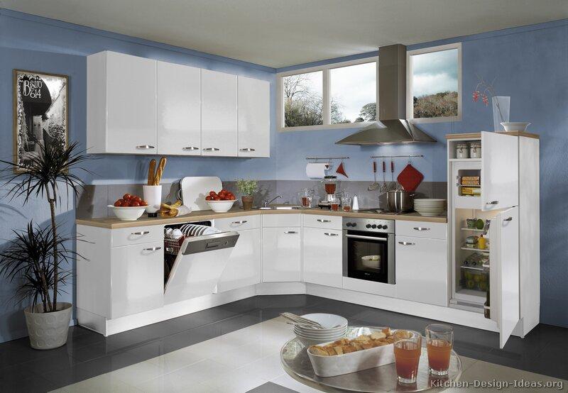 Kitchen White Cabinets Blue Walls Hawk Haven