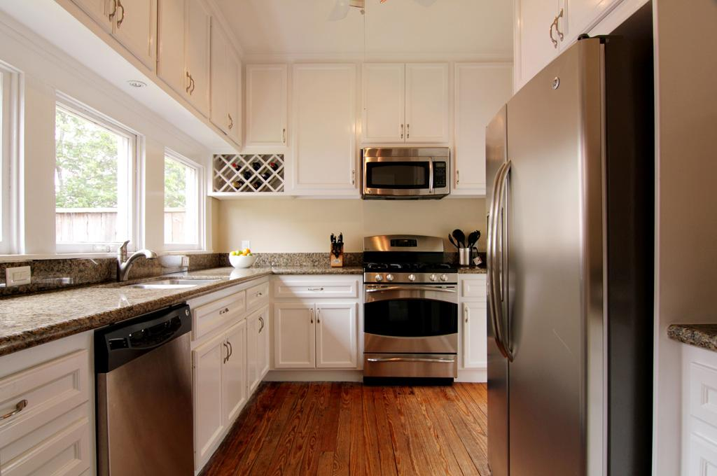 Kitchen White Cabinets Stainless Appliances Photo 2