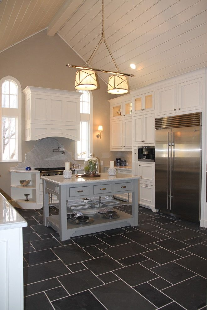 Kitchen White Cabinets Tile Floor Hawk Haven