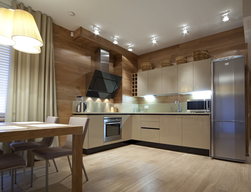 l shaped apartment kitchen photo - 1