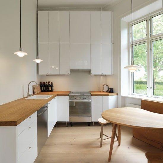 l shaped apartment kitchen photo - 8