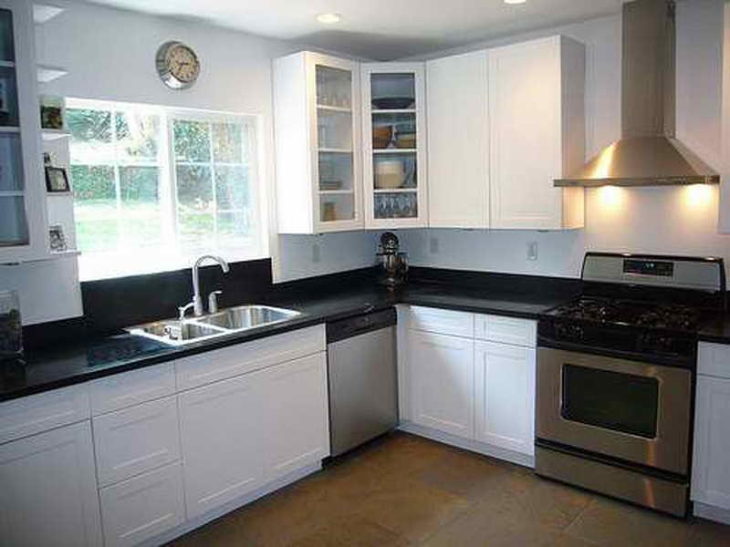 l shaped kitchen appliance layout photo - 1