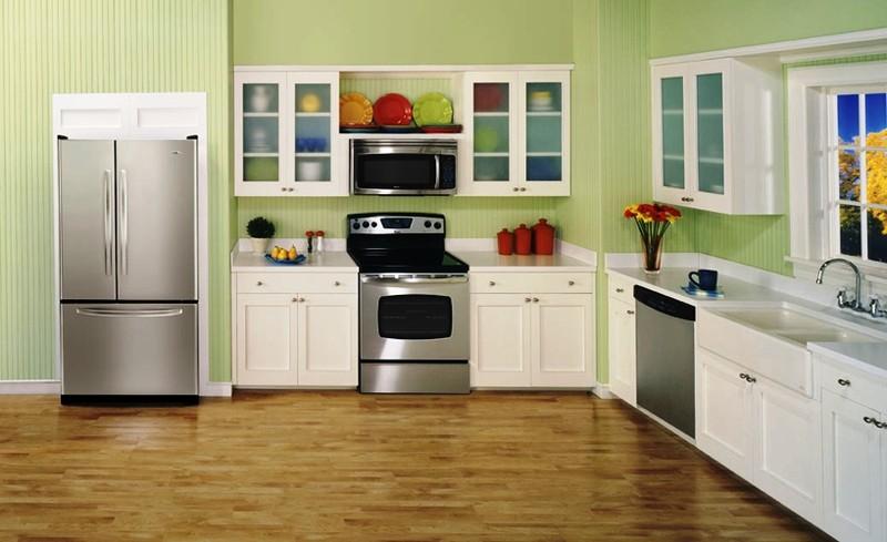 l shaped kitchen appliance layout photo - 10