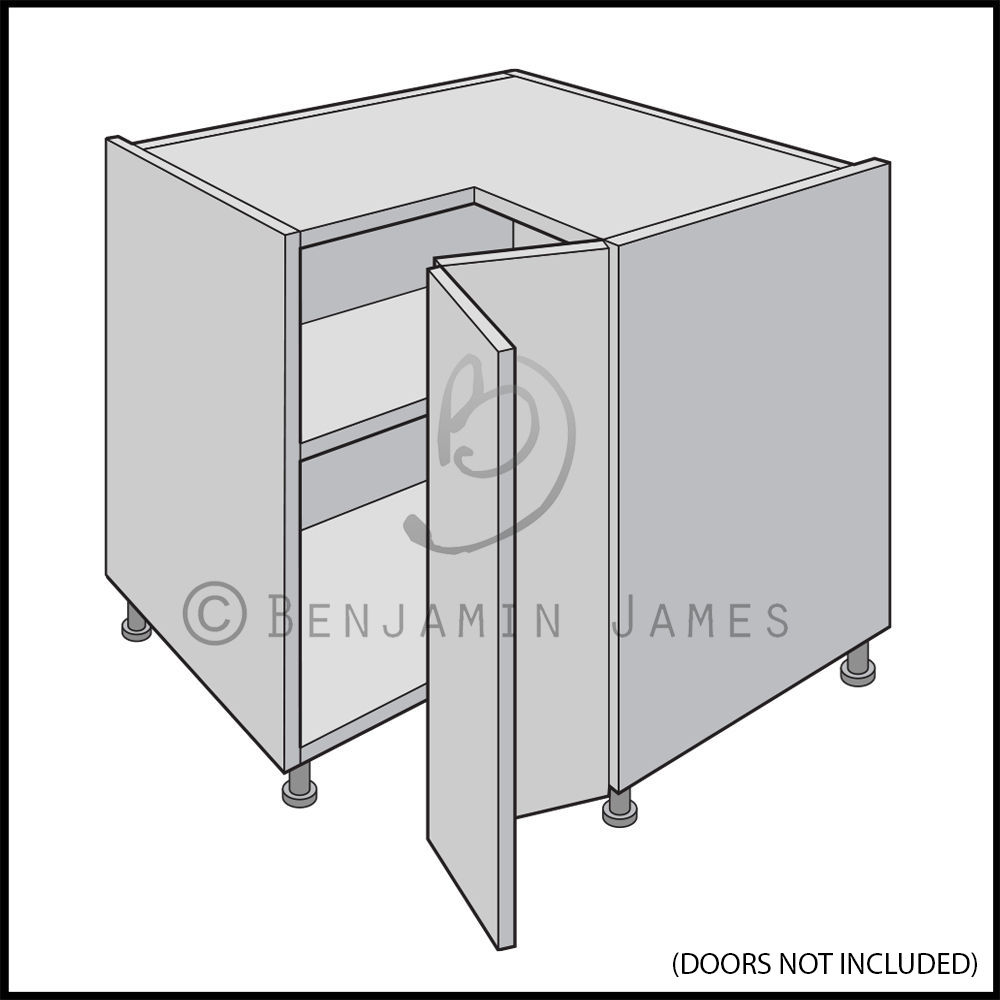 l-shaped kitchen base unit photo - 9