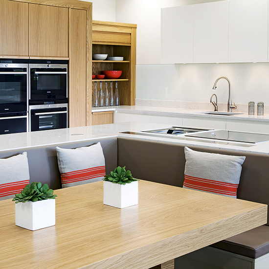 l shaped kitchen booth photo - 10