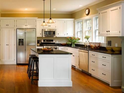 l shaped kitchen cabinets photo - 3