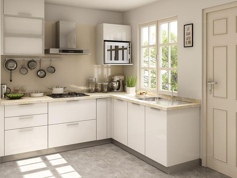 l shaped kitchen design photo - 10