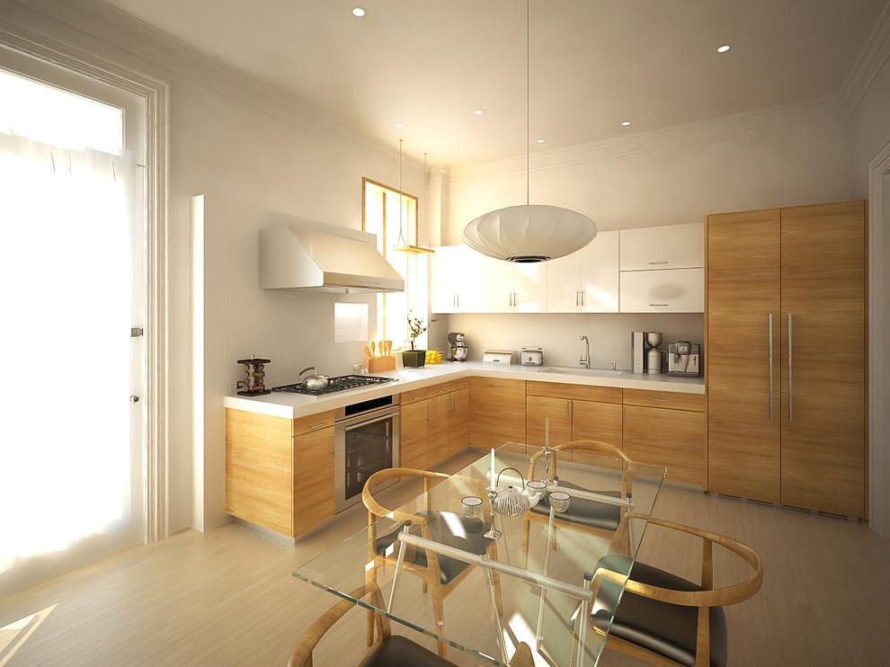 l shaped kitchen design photo - 7