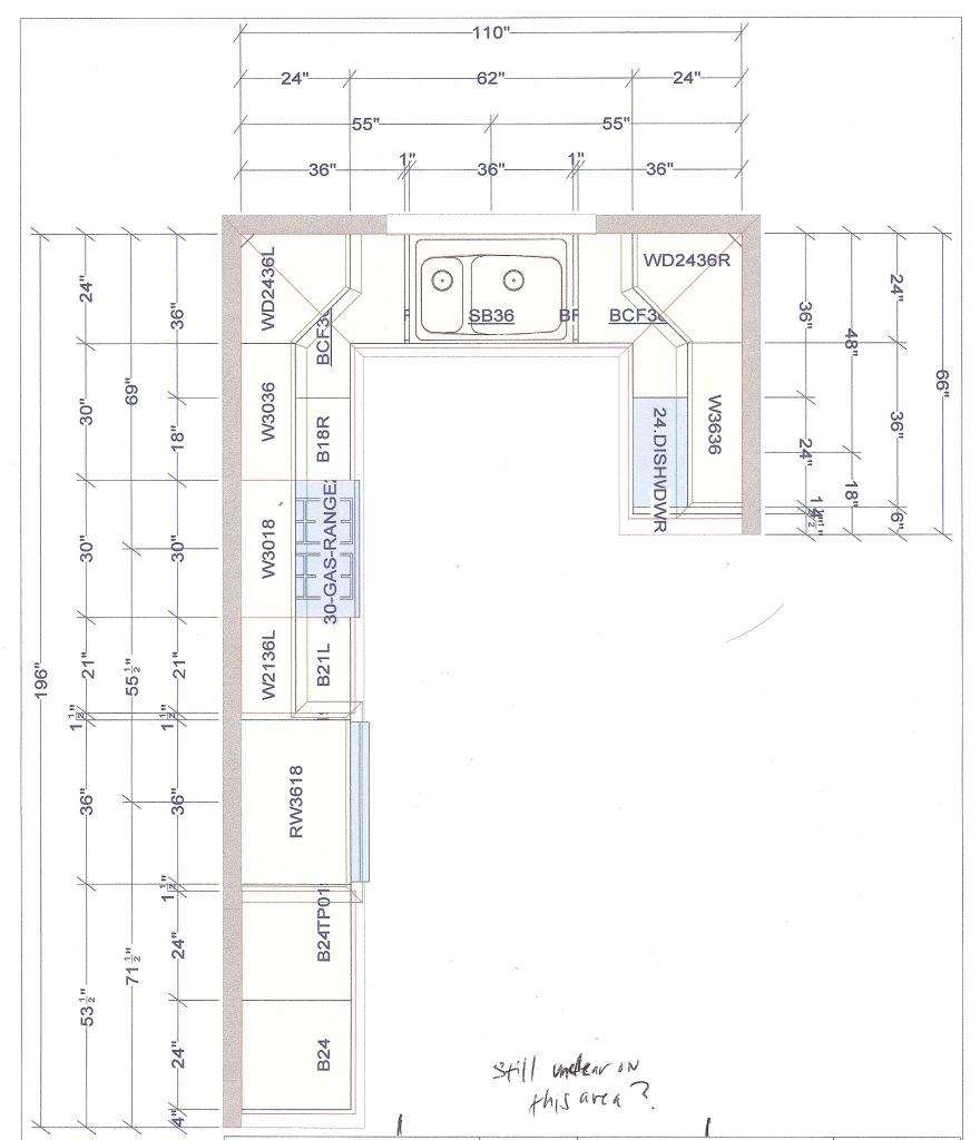 L Shaped Kitchen Floor Plan Ideas Photo   8