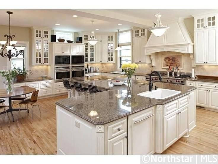 L shaped kitchen island | Hawk Haven