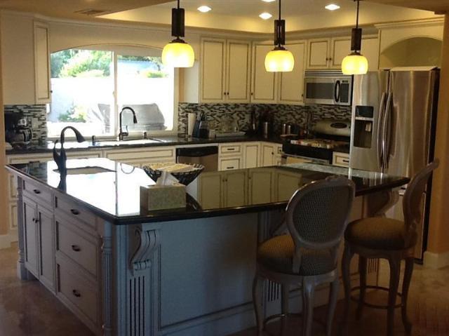 l shaped kitchen island photo - 10