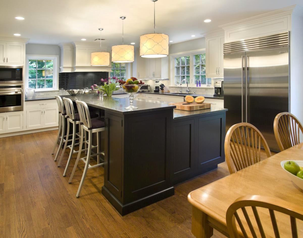 l shaped kitchen island photo - 2