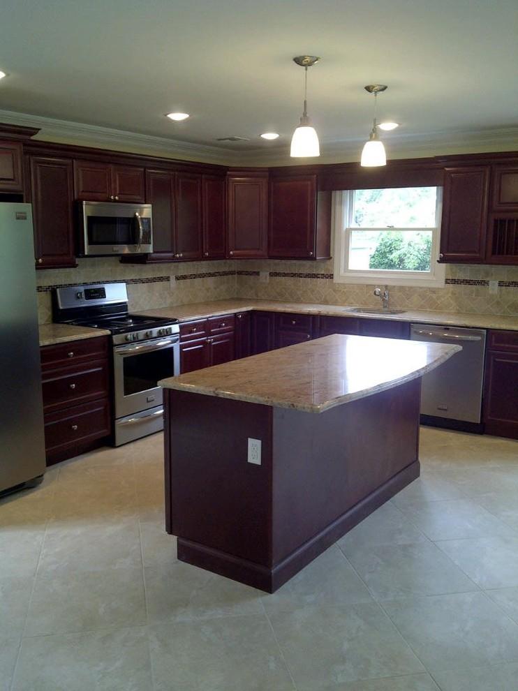 l shaped kitchen island photo - 5