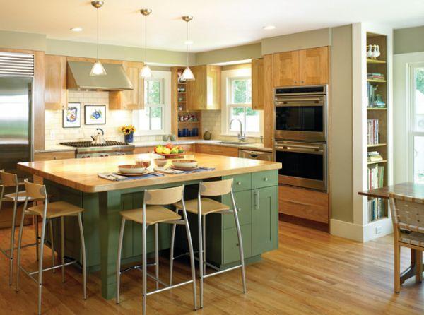 l shaped kitchen island photo - 6