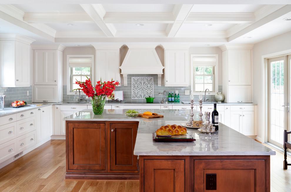 l shaped kitchen island photo - 7