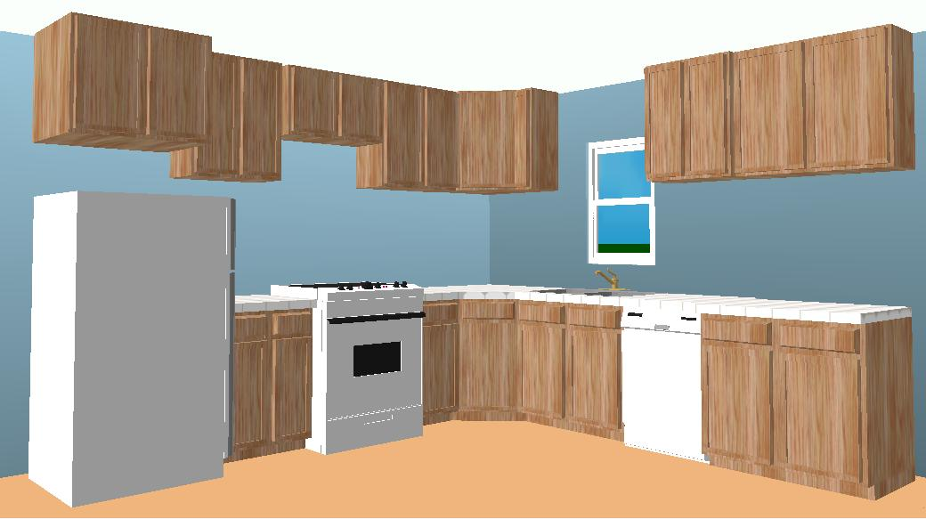 l shaped kitchen layout photo - 1