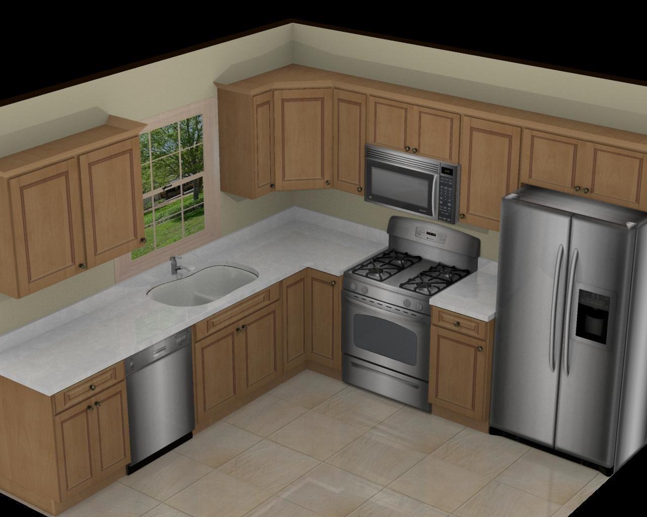 l shaped kitchen layout photo - 3