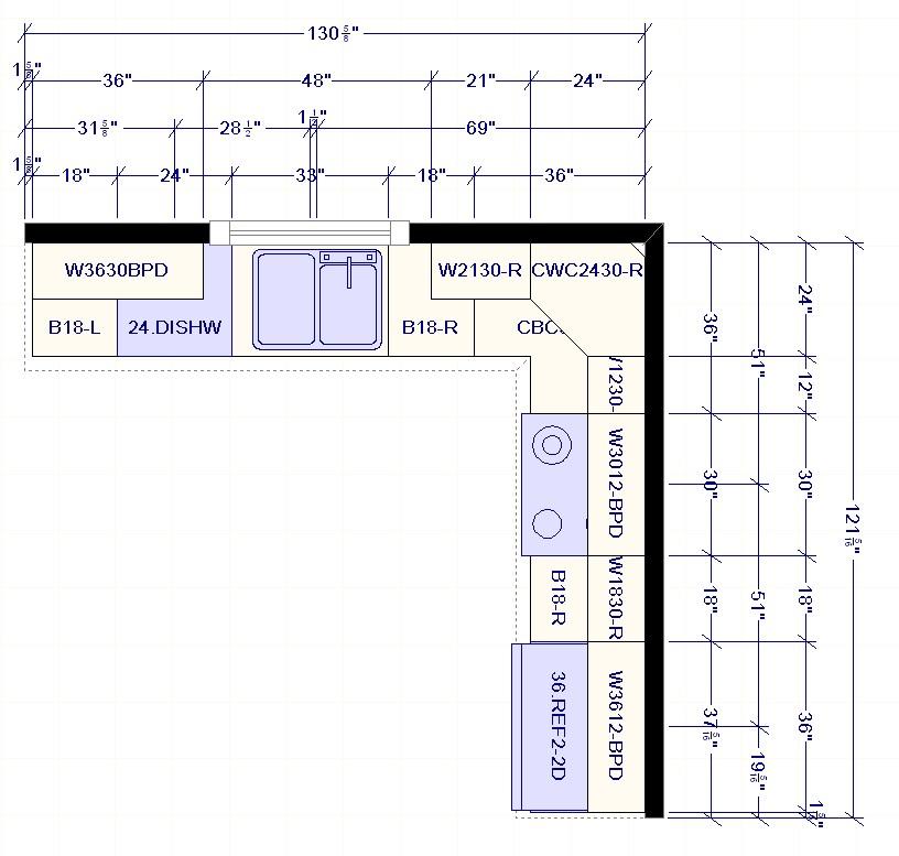 l shaped kitchen layout photo - 5