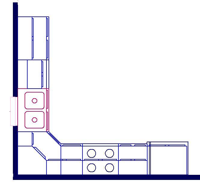 l shaped kitchen layout photo - 6