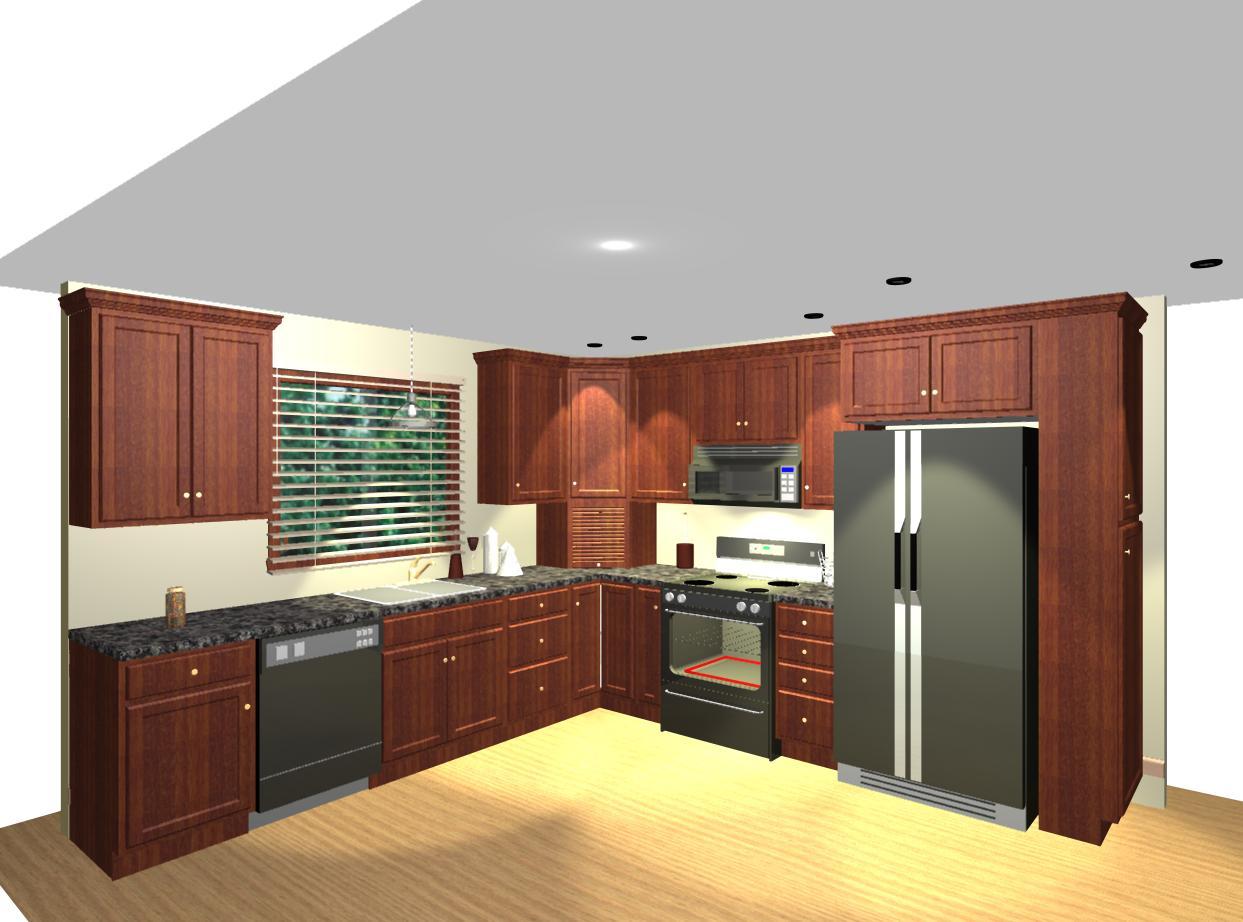 l shaped kitchen layout photo - 8