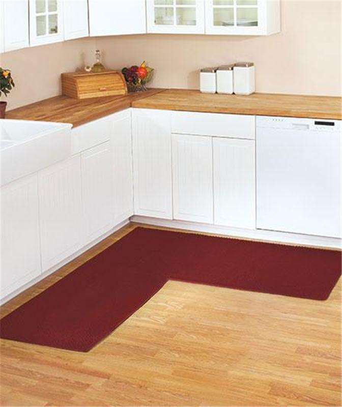 l shaped kitchen rug photo - 2