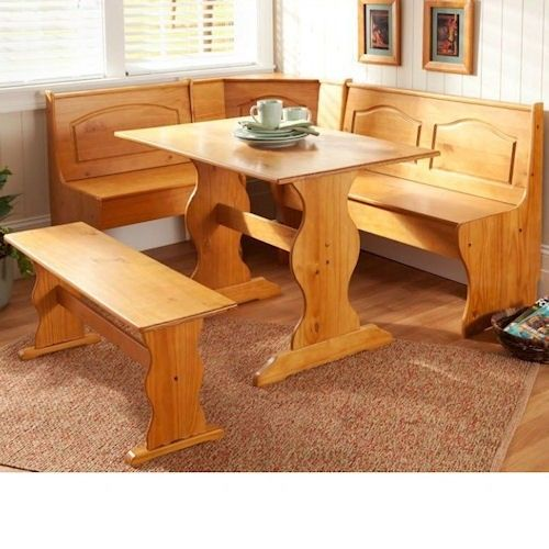 l shaped kitchen table photo - 1
