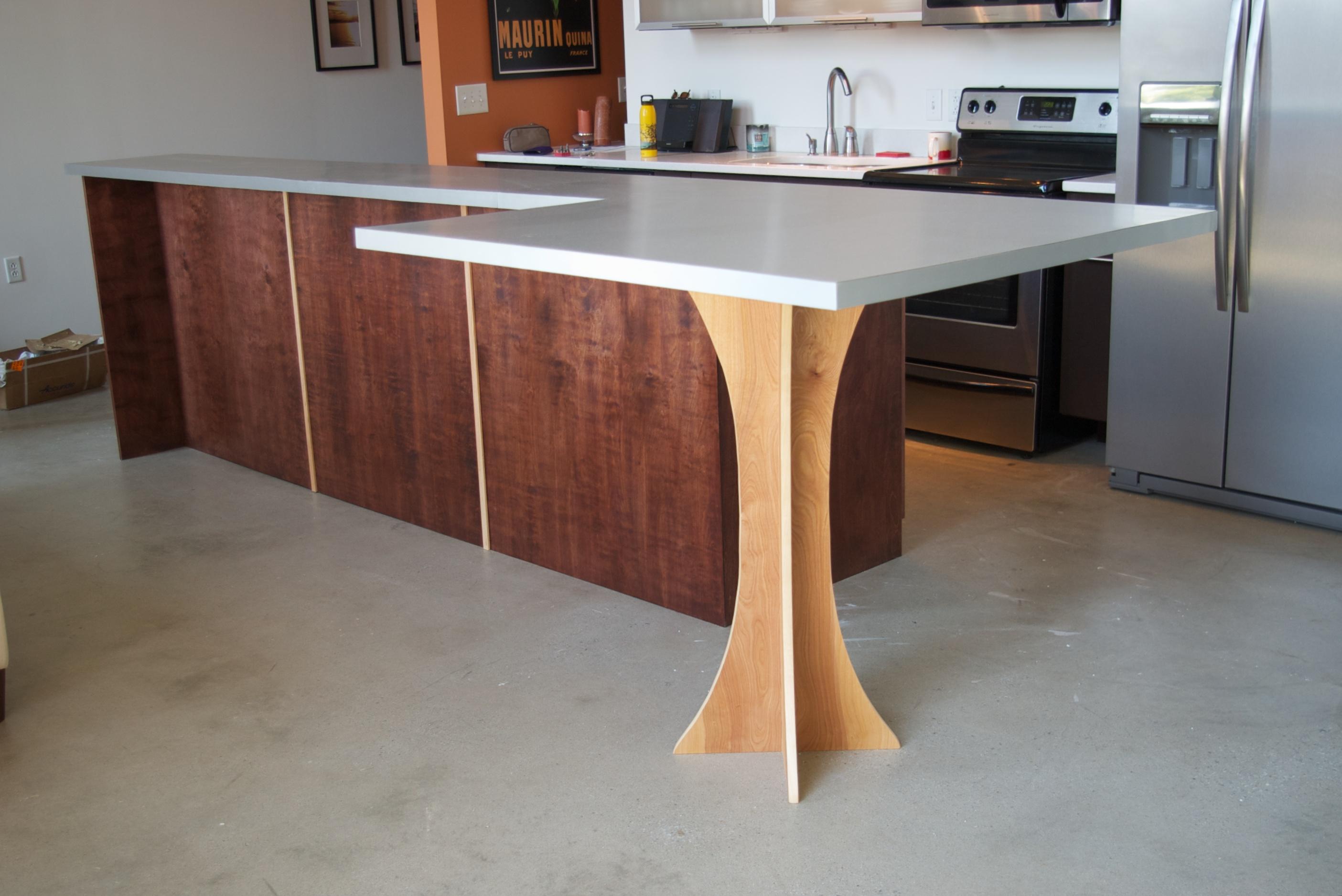 L shaped kitchen table   Hawk Haven