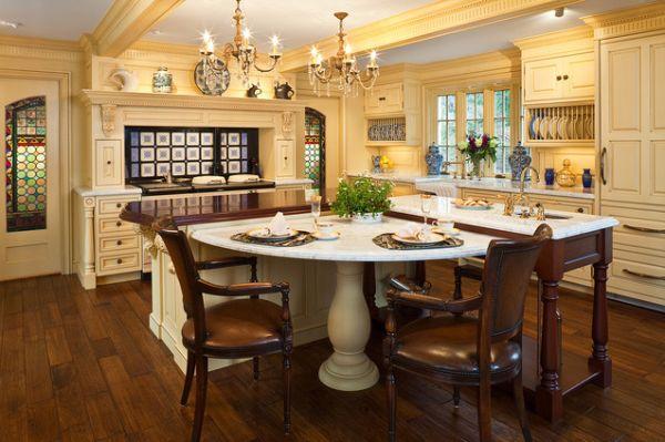 l shaped kitchen table photo - 3