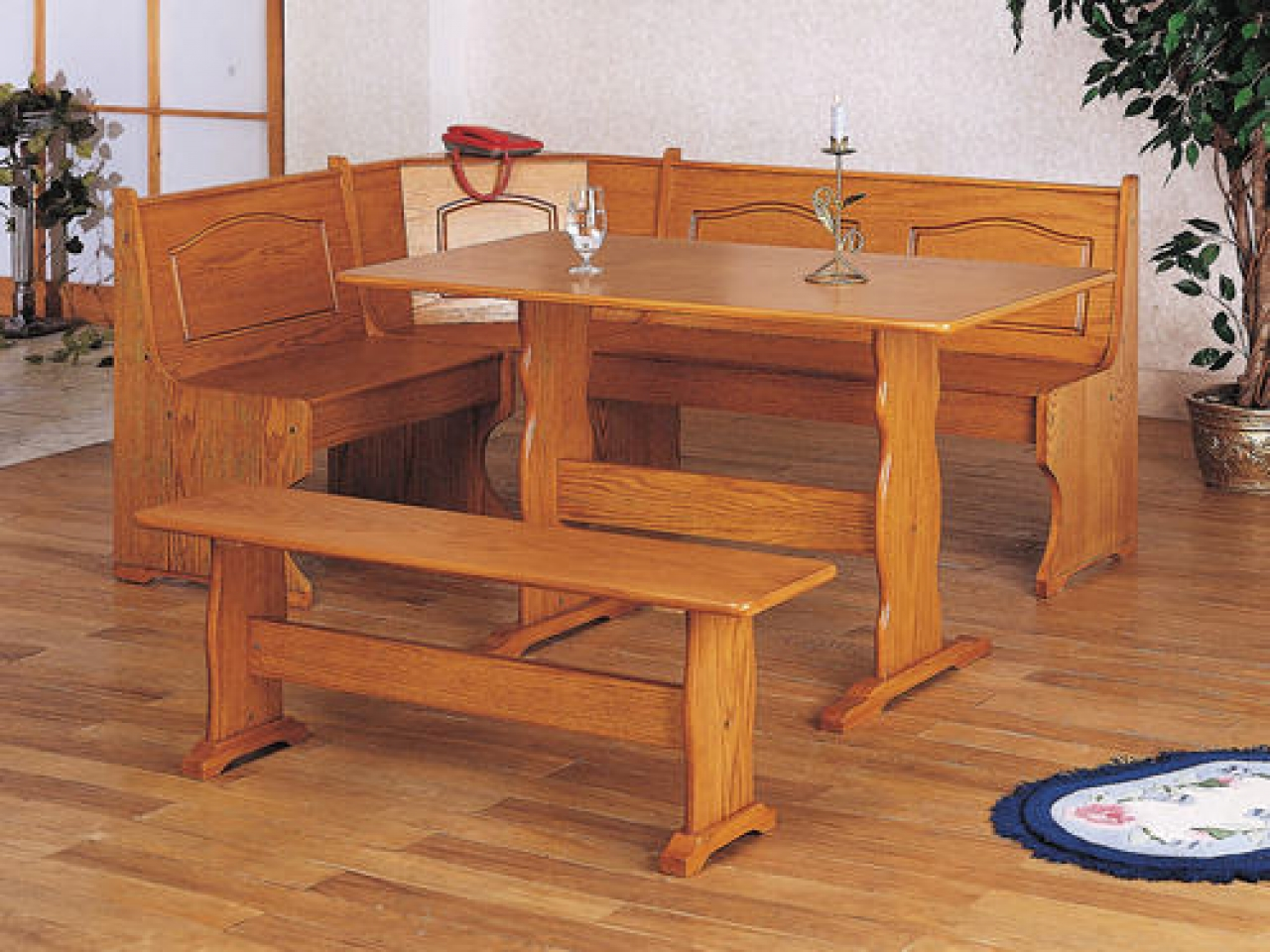 l shaped kitchen table photo - 9