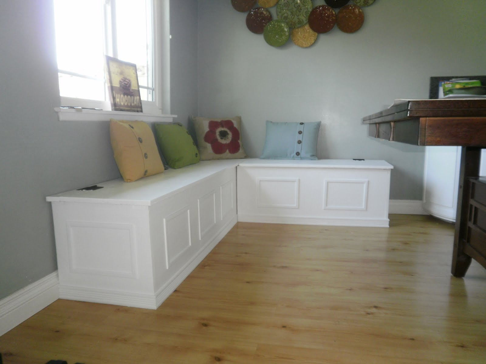 l shaped kitchen table with bench photo - 1