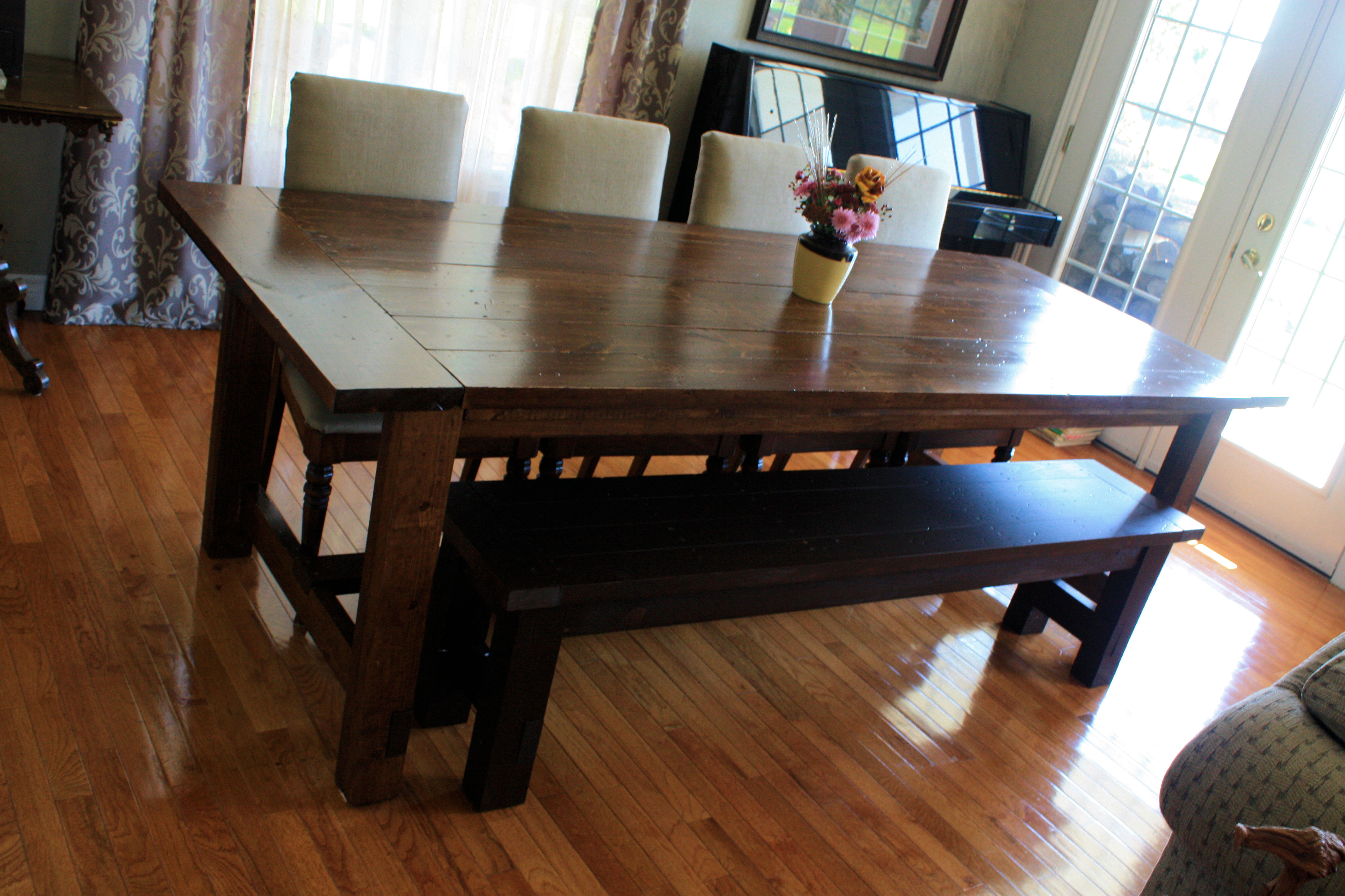 l shaped kitchen table with bench photo - 10