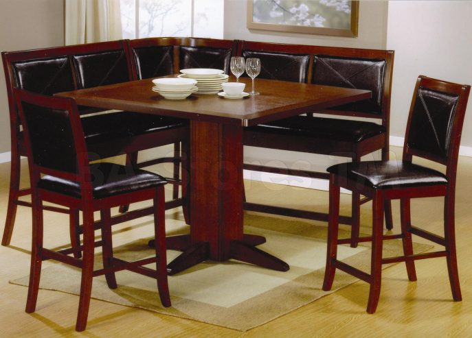 l shaped kitchen table with bench photo - 9