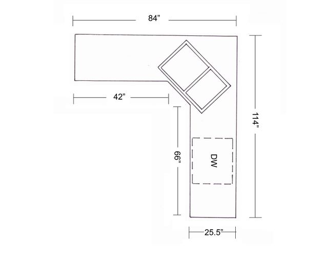 l shaped kitchen with corner sink photo - 6