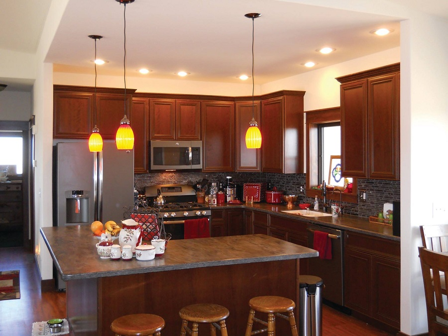 l shaped kitchen with island designs photo - 9