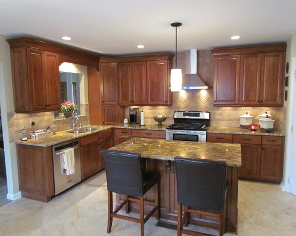 l shaped kitchen with island pictures photo - 1