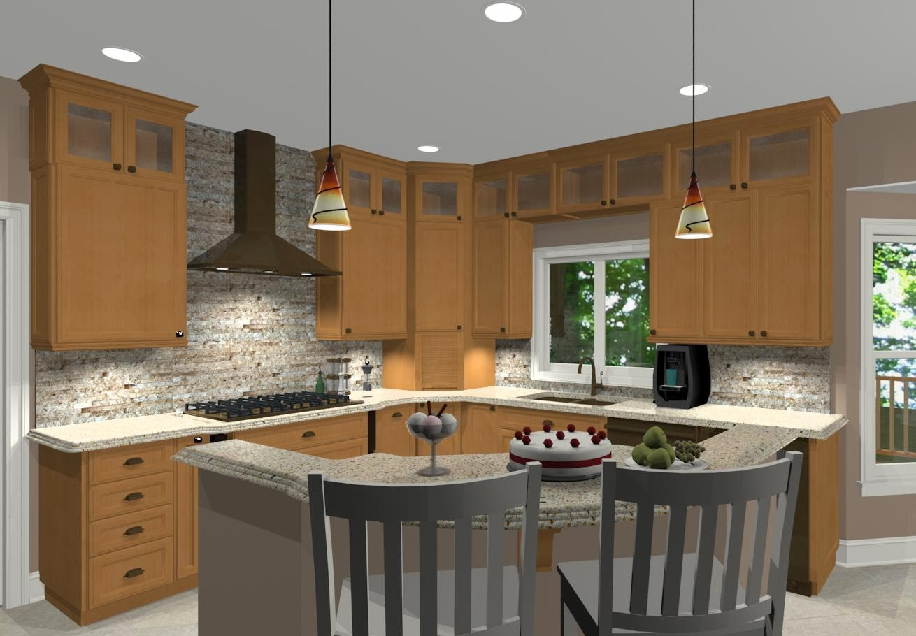 l shaped kitchen with island pictures photo - 6