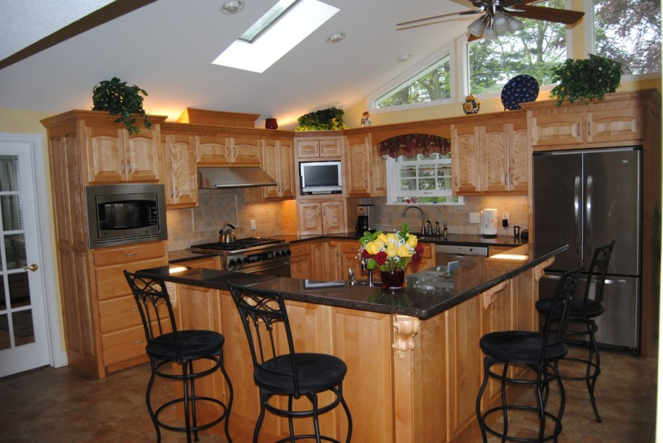 l shaped kitchen with island plans photo - 7