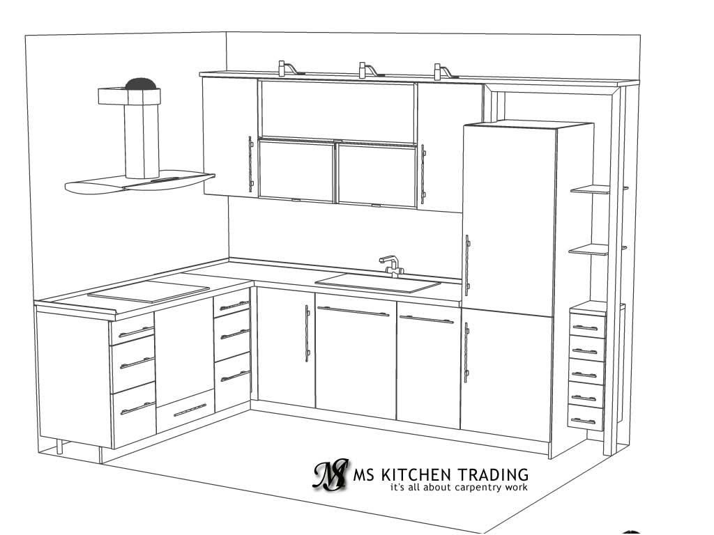 l-shaped kitchen work triangle photo - 5