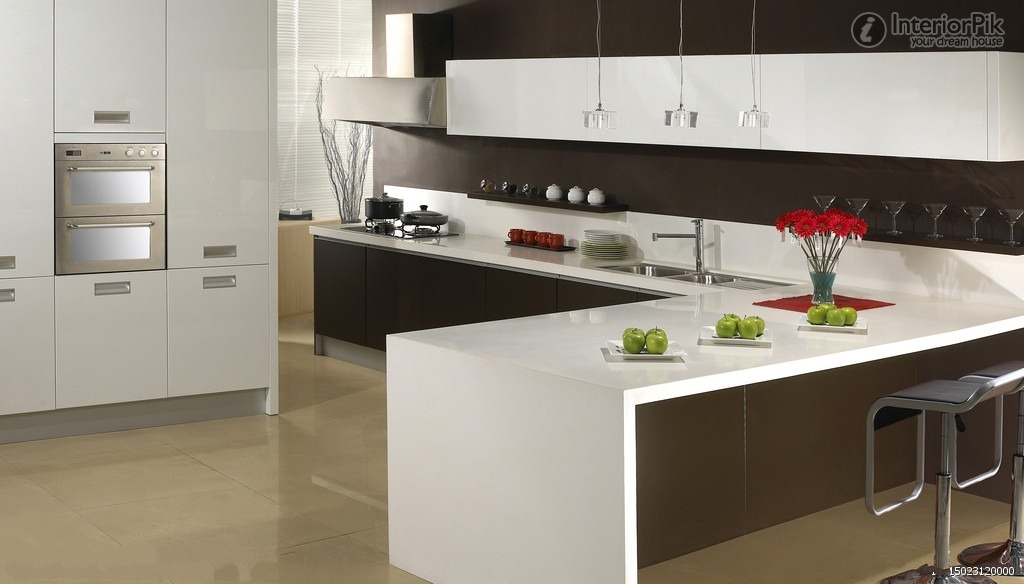 l shaped open kitchen photo - 1