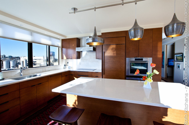 l shaped open kitchen photo - 10