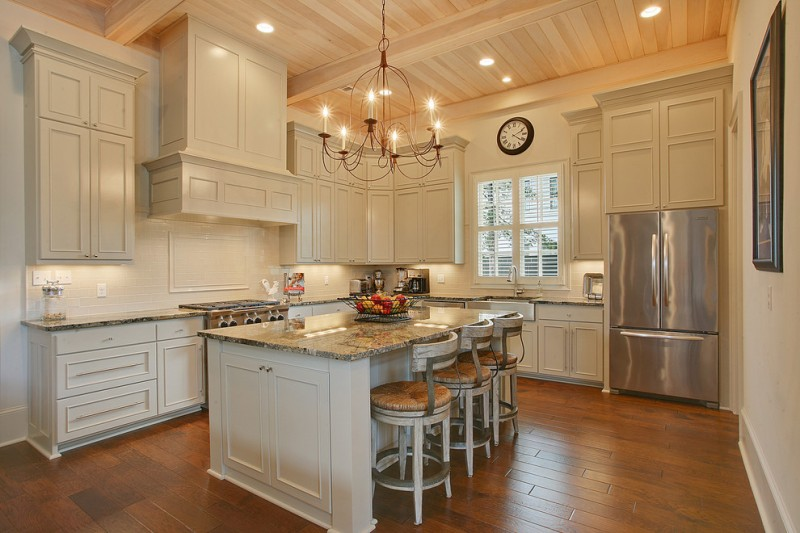 l shaped open kitchen photo - 3