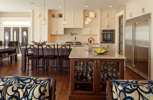 l shaped open kitchen photo - 6