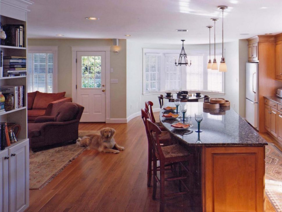 l shaped open kitchen photo - 9