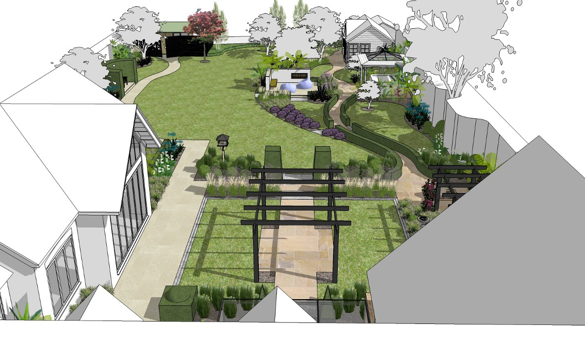 large garden designs plans photo - 5