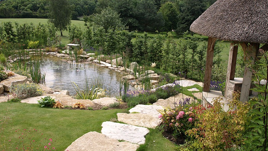 large garden pond designs photo - 10