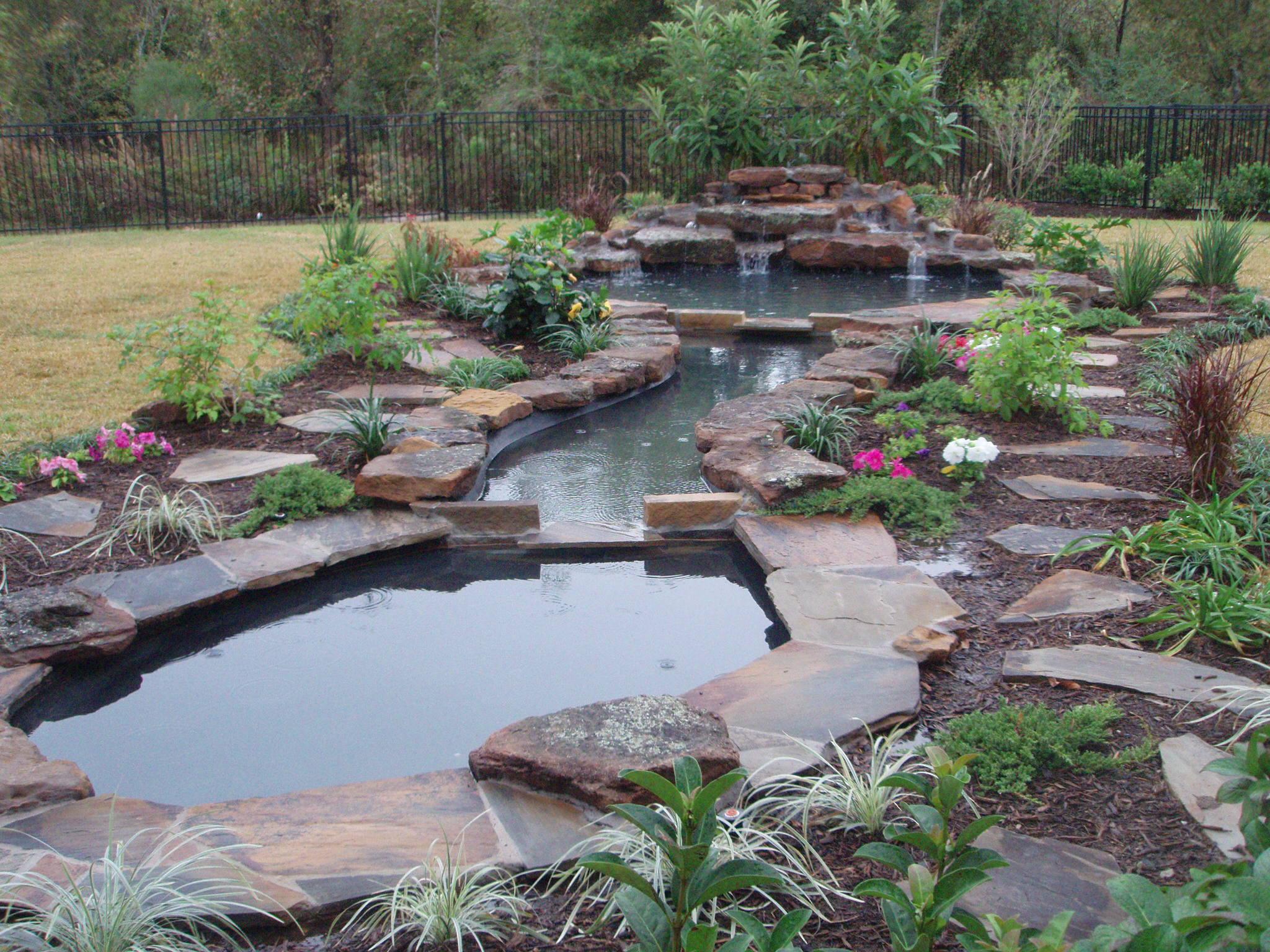 large garden pond designs photo - 4