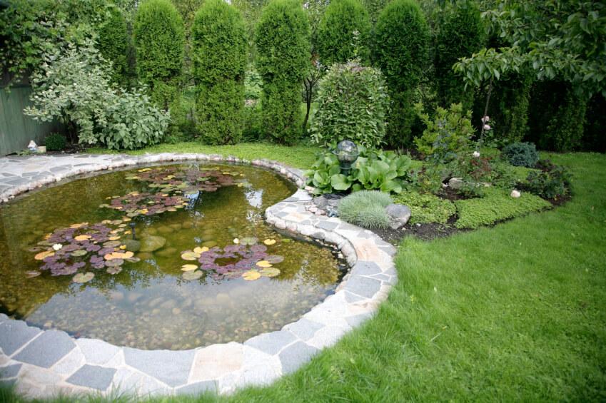 large garden pond designs photo - 8