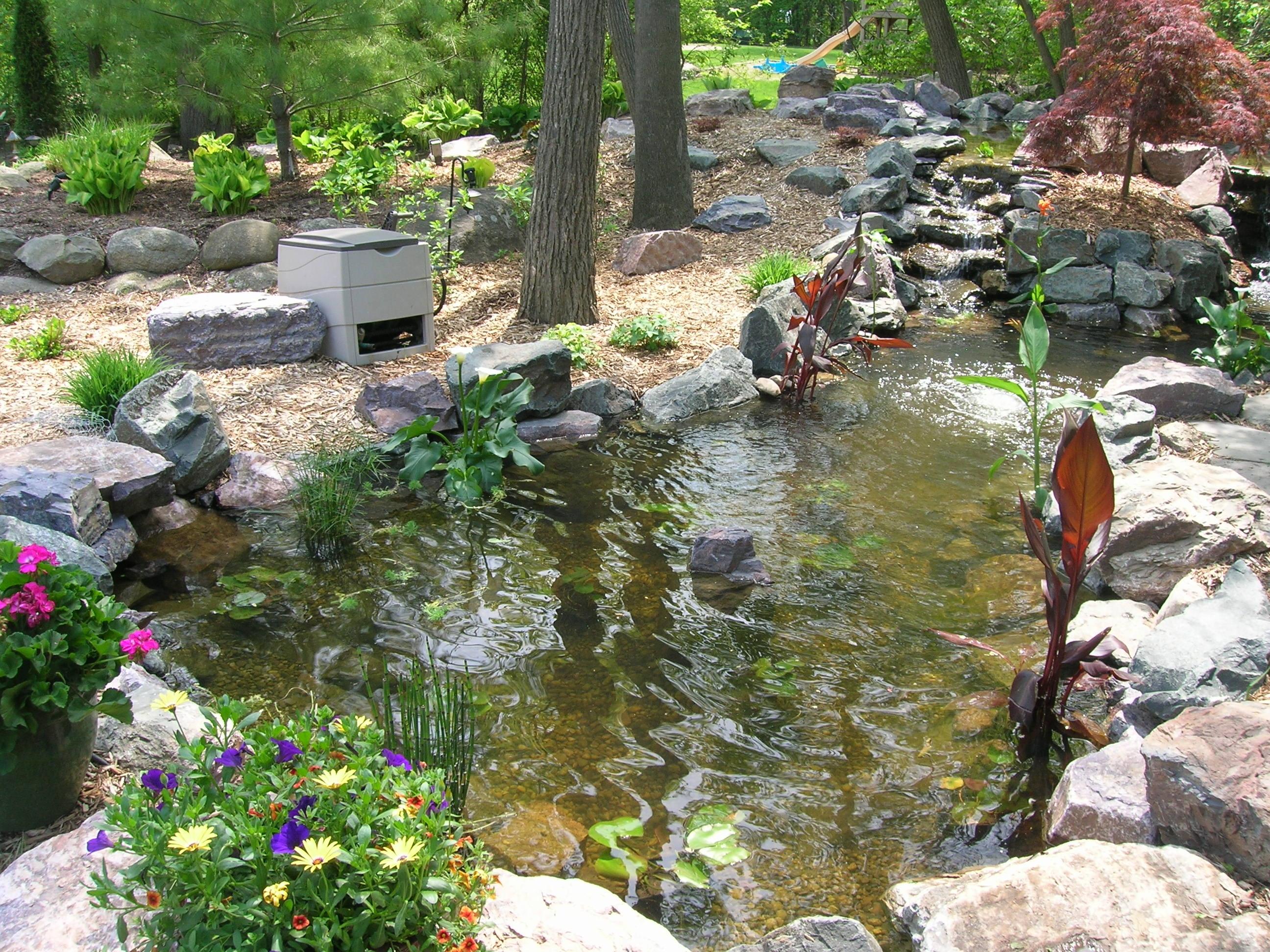 large garden pond designs photo - 9